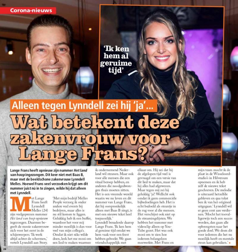 Story, Lynndell Melles, Lange Frans, Het land van hoop, ondernemend Nederland